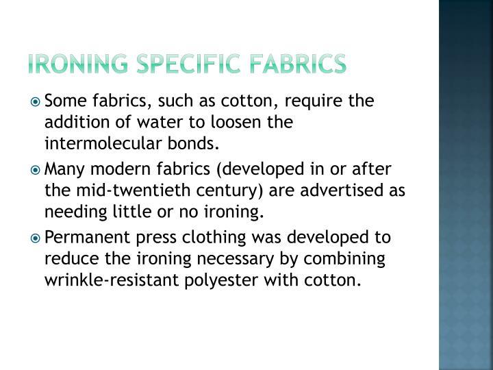 Ironing Specific Fabrics