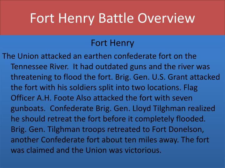 Fort Henry Battle Overview