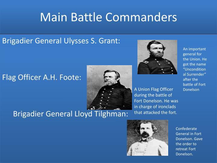 Main Battle Commanders