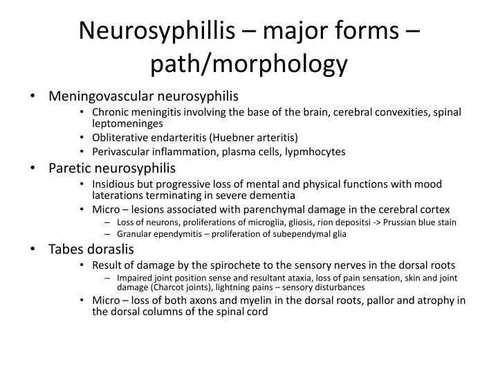 Neurosyphillis