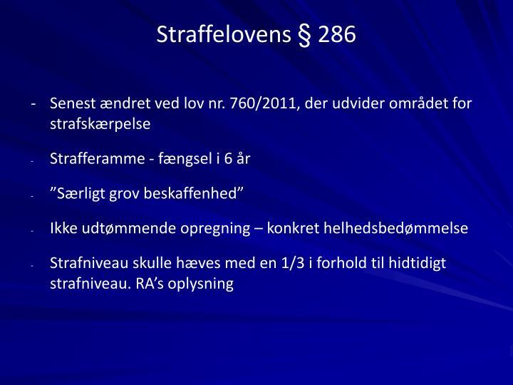 Straffelovens § 286