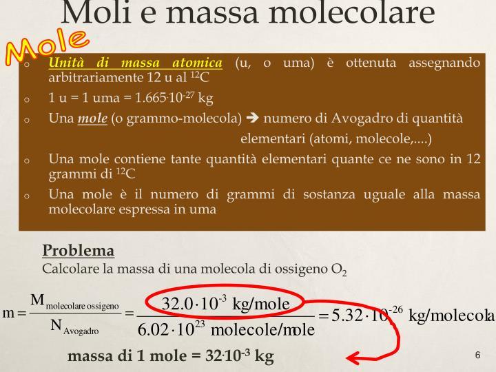 Moli e massa molecolare
