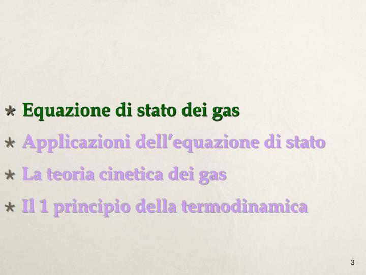 Equazione di stato dei gas