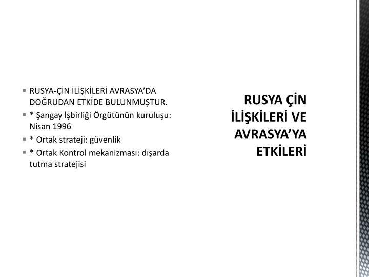 RUSYA-ÇİN