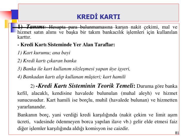 KREDİ KARTI
