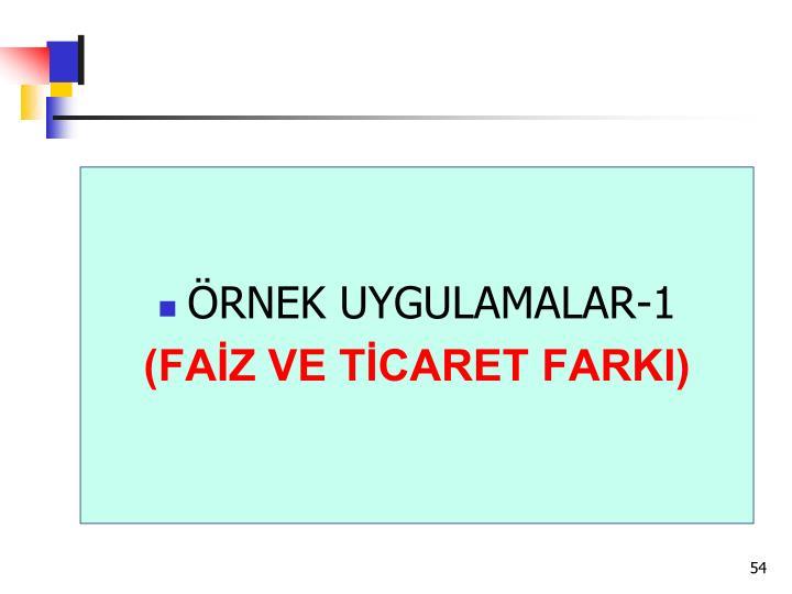 ÖRNEK UYGULAMALAR-1