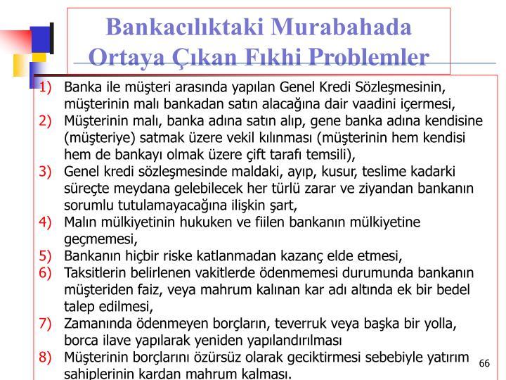 Bankacılıktaki Murabahada