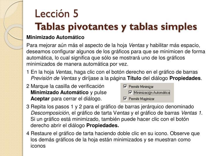 Lección 5