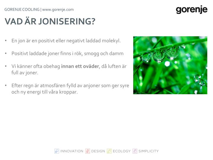 GORENJE COOLING |