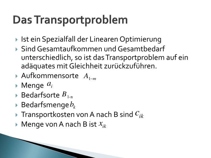 Das Transportproblem