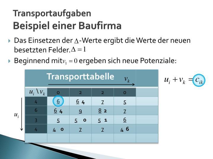 Transportaufgaben