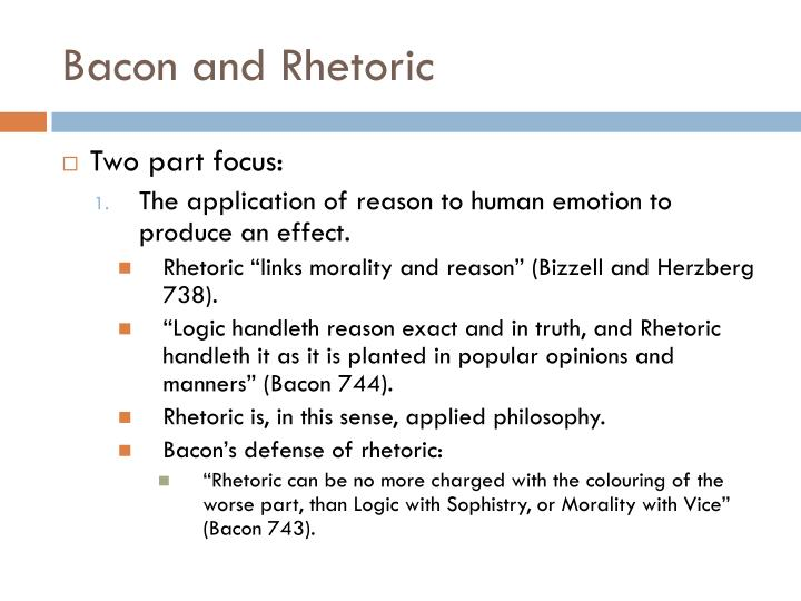 Bacon and Rhetoric
