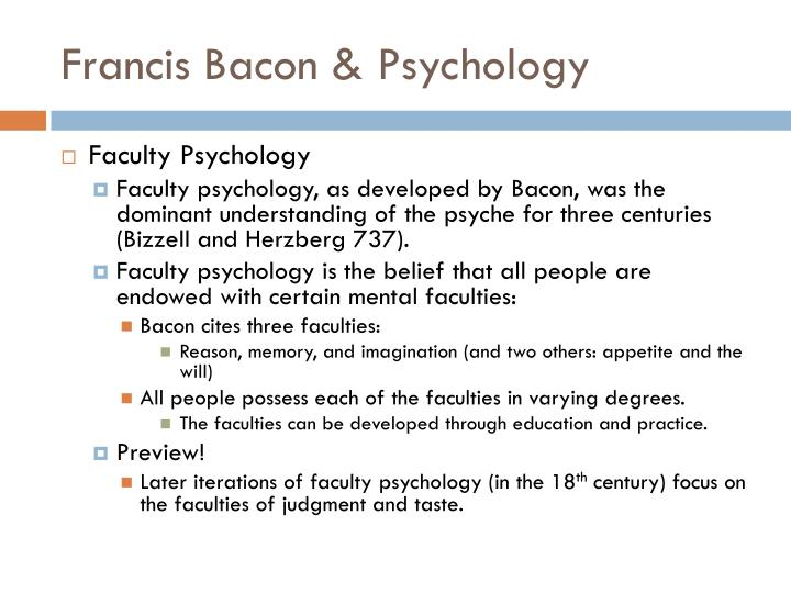 Francis Bacon & Psychology