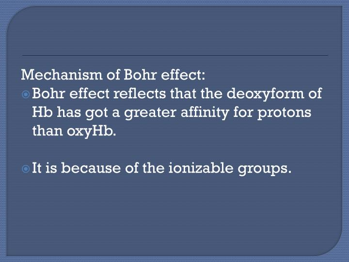 Mechanism of Bohr effect: