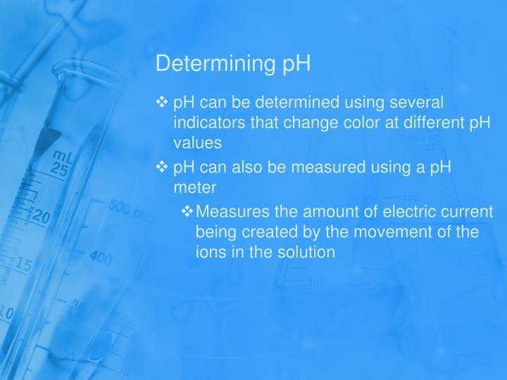 Determining pH