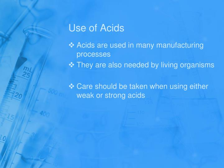 Use of Acids
