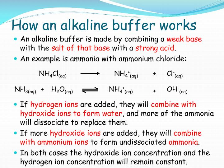 How an alkaline buffer works