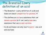 the br nsted lowry definition of an acid