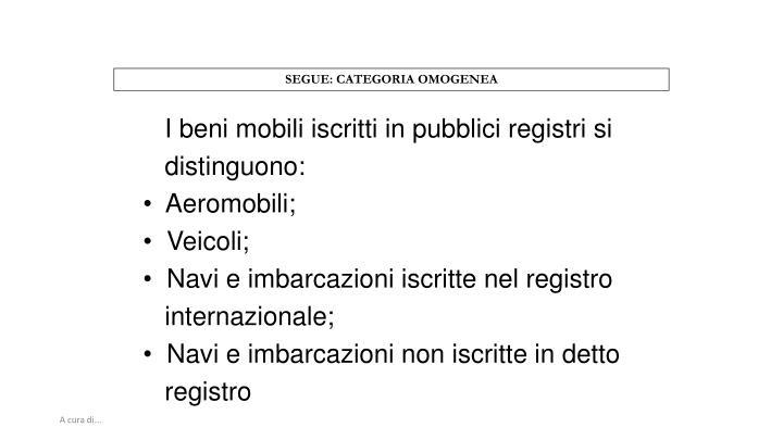 SEGUE: CATEGORIA OMOGENEA