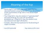 meaning of the ksp