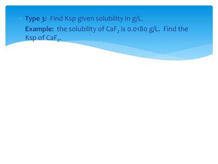 Type 3: