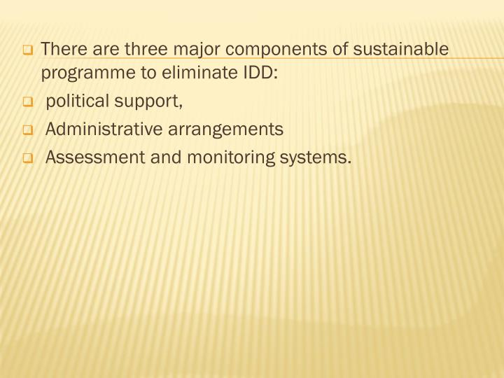 There are three major components of sustainable