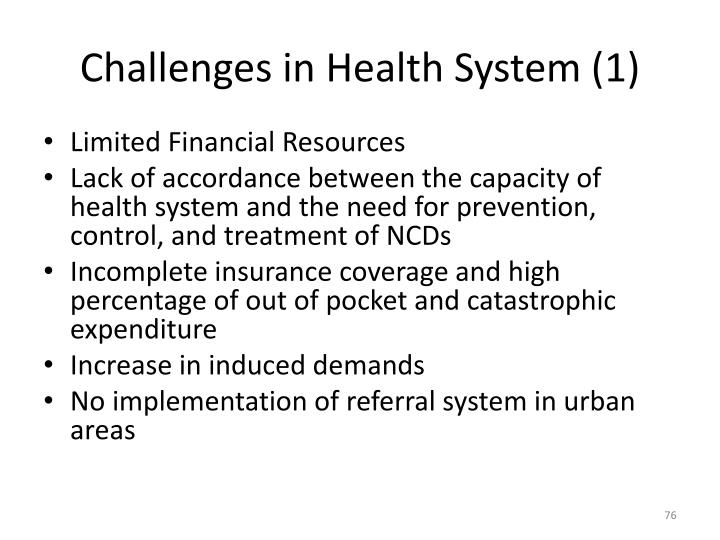 Challenges in Health System (1)