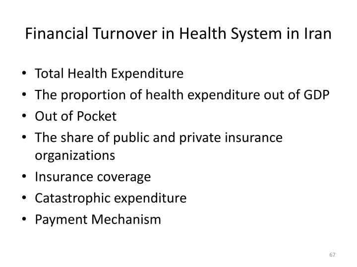 Financial Turnover in Health System in Iran