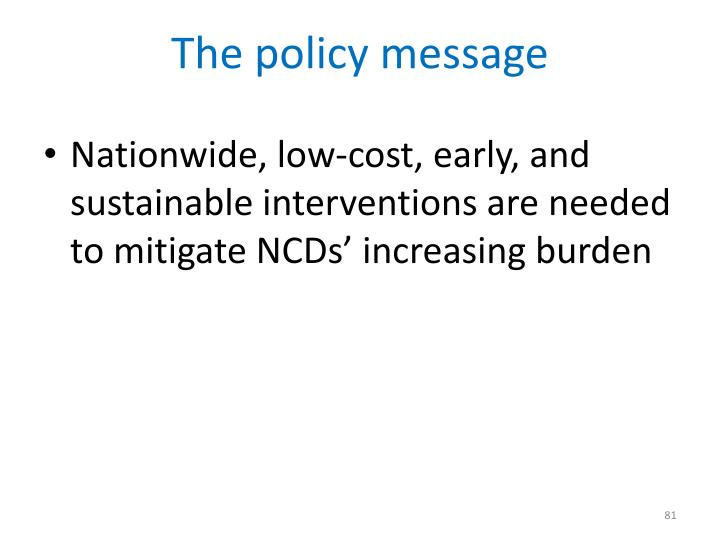 The policy message