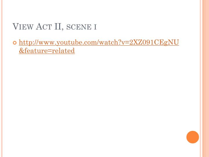 View Act II, scene
