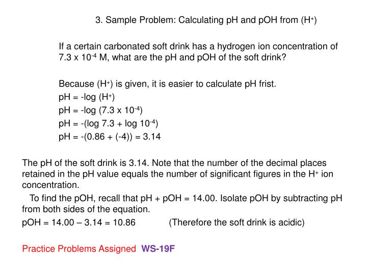 3. Sample Problem: Calculating pH and