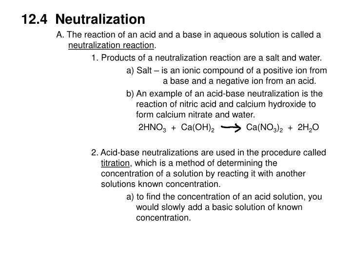 12.4  Neutralization