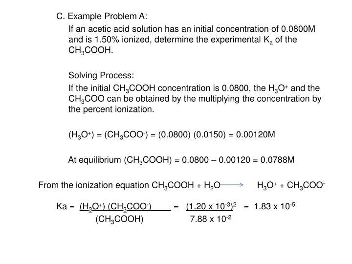 C. Example Problem A:
