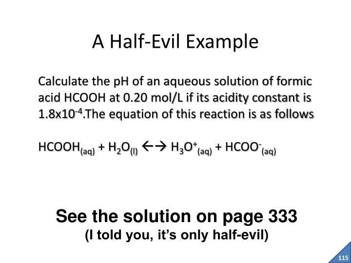 A Half-Evil Example