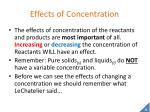 effects of concentration