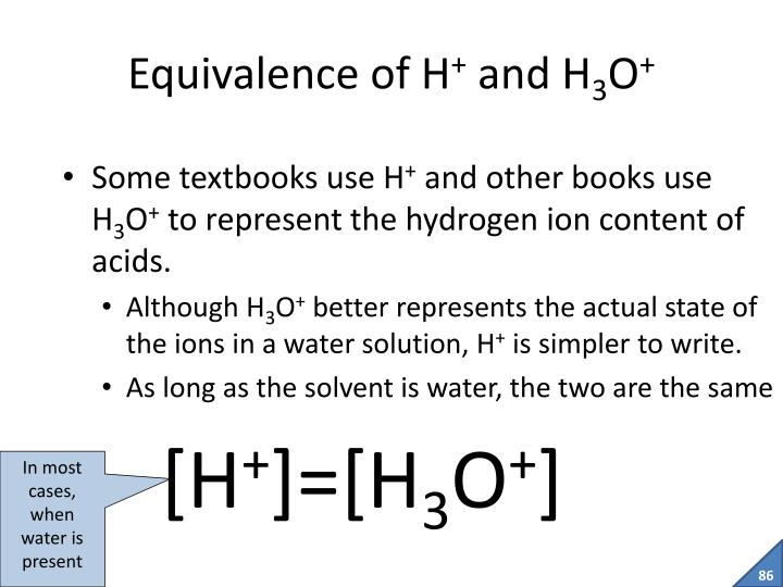 Equivalence of H
