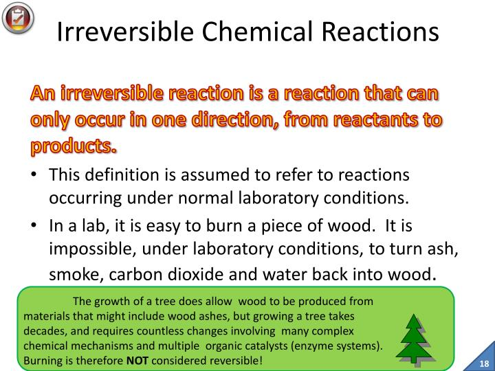 Irreversible Chemical Reactions