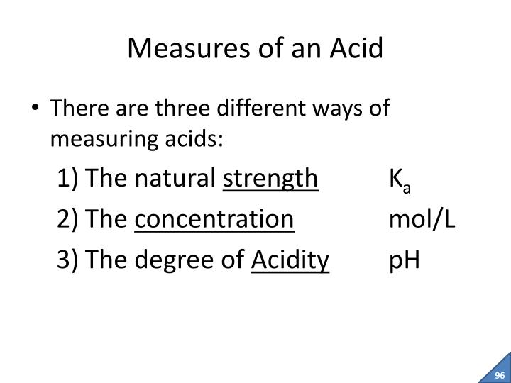 Measures of an Acid