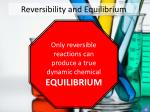 reversibility and equilibrium