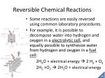 reversible chemical reactions