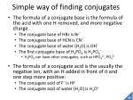 simple way of finding conjugates