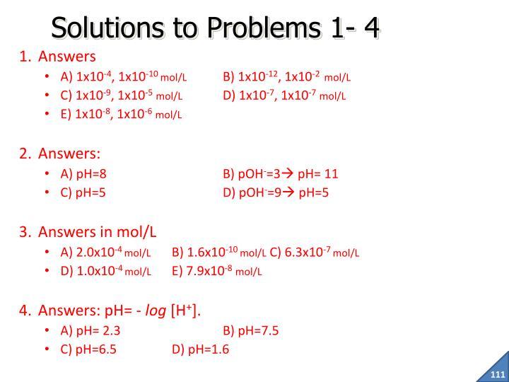 Solutions to Problems 1- 4
