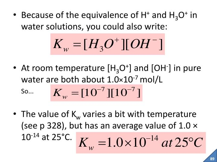 Because of the equivalence of H