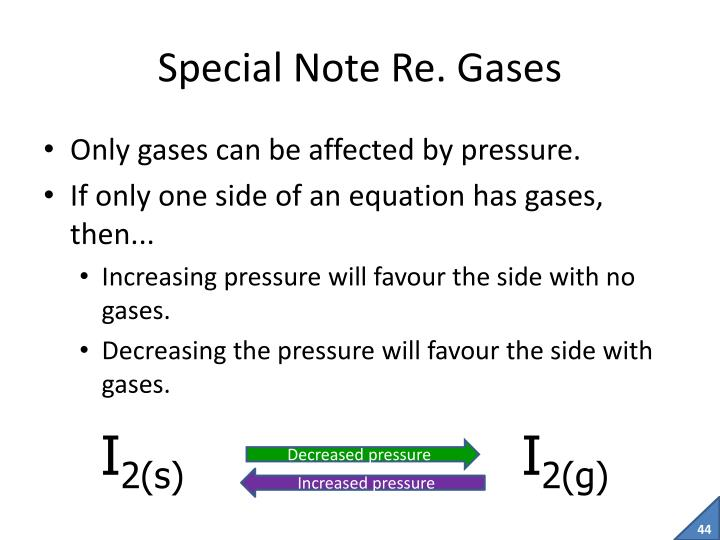 Special Note Re. Gases