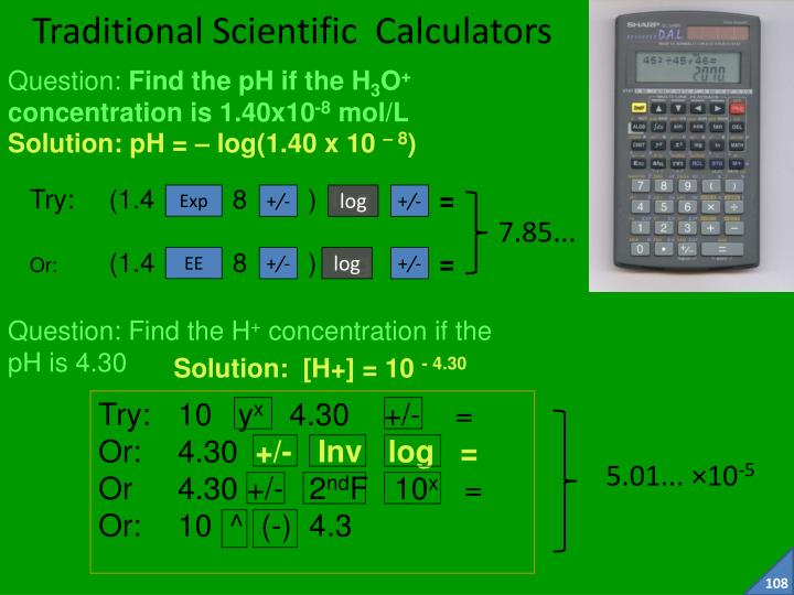 Traditional Scientific  Calculators