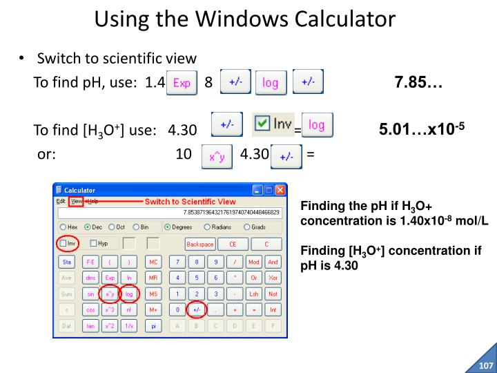 Using the Windows Calculator