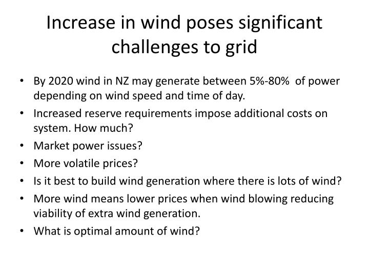 Increase in wind poses significant challenges to grid