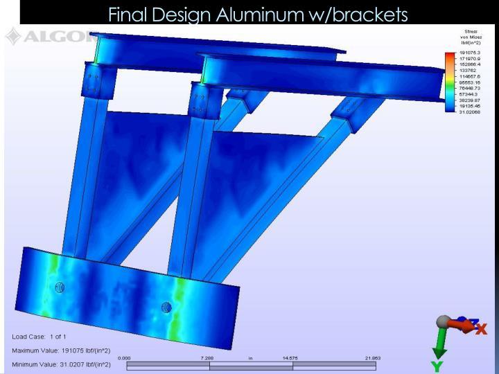 Final Design Aluminum w/brackets
