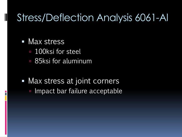 Stress/Deflection Analysis 6061-Al