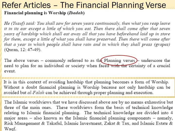 Refer Articles – The Financial Planning Verse